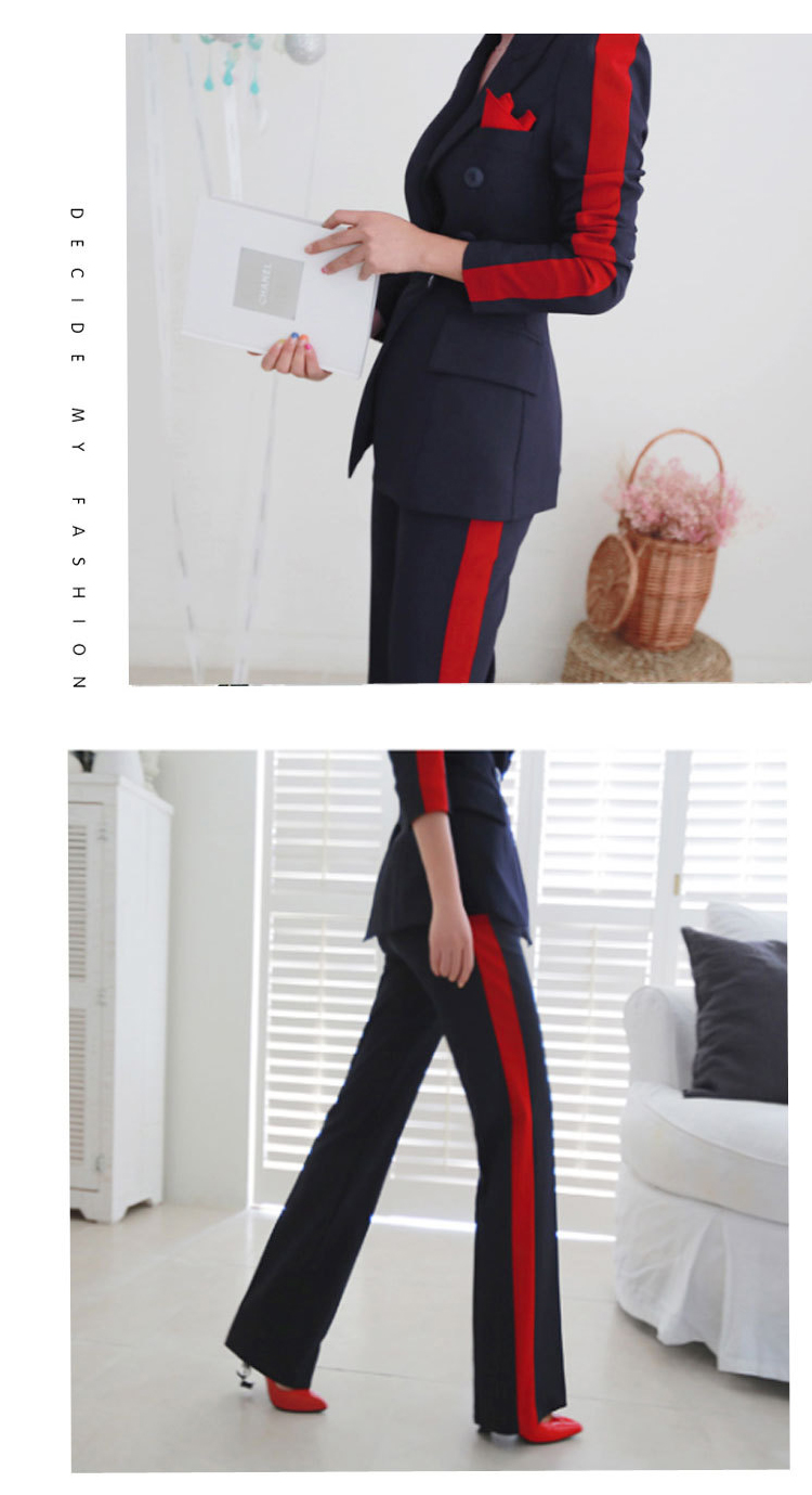 New arrival women high quality temperament fashion wild suit slim pant comfortable thick warm trend outdoor office pant suits 5