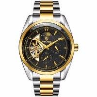 TEVISE Mechanical Watches Luxury Brand mens watch Full Steel Business Waterproof Male Clock New