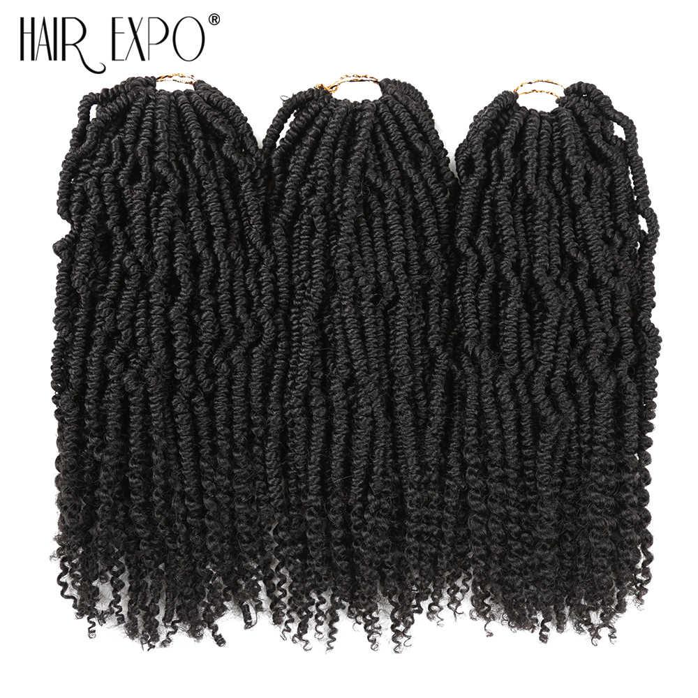 Rambut Expo City Bom Twist Rajut Kepang Ekstensi Rambut Ombre Sintetis Nubia Musim Semi Keriting Keriting Twist Afro Wanita