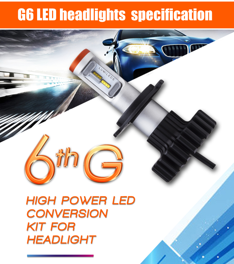 цены  FREE SHIPPING, DLAND TYG6 40W 4800LM AUTO CAR LED BULB LAMP KIT H1 H3 H7 H8 H9 H11 9012 9005 9006 880 881 H4 H13 BEST QUALITY