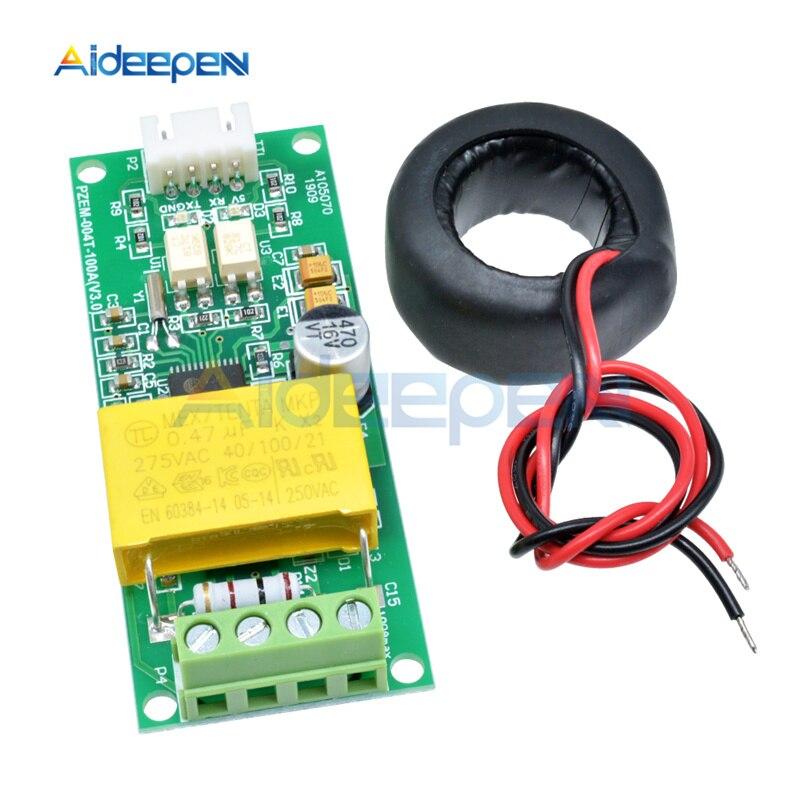 Digital 80 100A COM2 COM3 Watt 260V Module Current TTL Power Volt Arduino Test Meter Multifunction AC COM4 0 004T For PZEM 5Pcs
