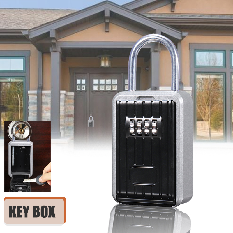 Hide Key Box Smart Password Lock Locker Door Hide Storage Box Case Outdoor Home Safe Aluminum Alloy lock for home