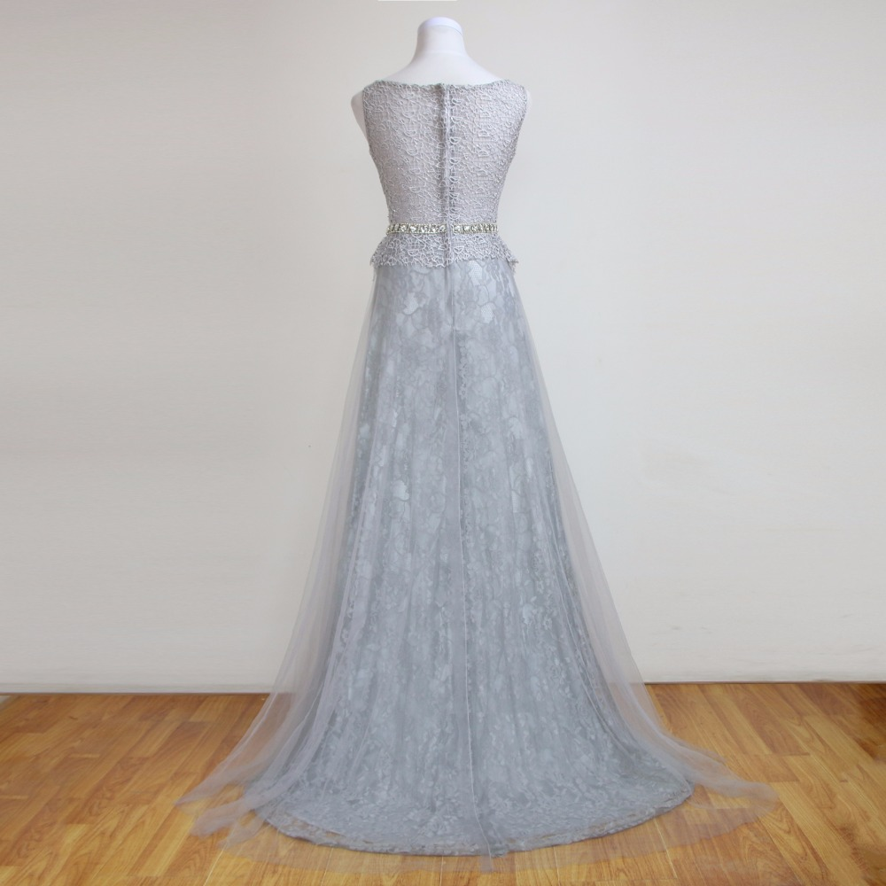 2016 Hollow Lace Sleeveless Sequin Beaded Rhinestones Sashes Long ...