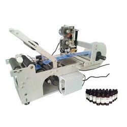 Wysoka wydajność semi auto etykieciarka do okrągłych butelek z datą maszyna drukarska