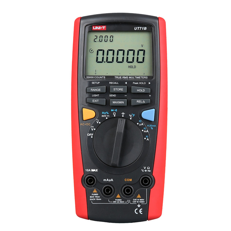 UNI-T Digital Multimeter UT71B multimeter auto range AC/DC current voltage USB true RMS REL Resistance test LCD multimeter unit uni t multimeter ut105 automotive multimeter ac dc voltage current resistance test meter handheld multimeter digital multimeter