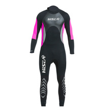 Hisea Women's Scuba Diving Wetsuit 3MM One Piece Long Sleeve Wetsuit UV Protective Swimming Surf Neoprene Wet Suit Ms. Swimsuit new scr neoprene 3mm camouflage one piece diving suit surf suit warm waterproof wetsuit for male size s xxl