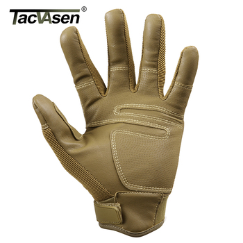 TACVASEN Military Tactical Gloves Men Airsoft Army Combat Gloves Hard Shell Leather Full Finger Shoot Hunt Work Paintball Gloves 2