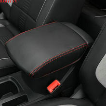 BJMYCYY Car-styling Interior trim for automobile armrest case decorative sleeve Accessories For 2017 2018 Volkswagen Vw T-ROC T