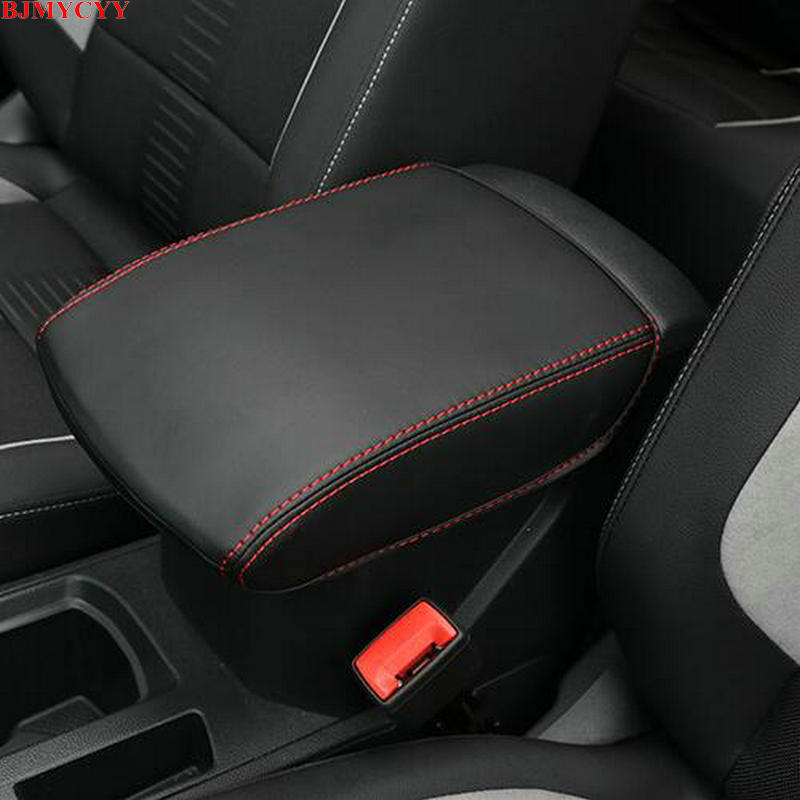 Bjmycyy estilo do carro interior guarnição para automóvel caso braço decorativo manga acessórios para 2017 2018 volkswagen vw T-ROC t
