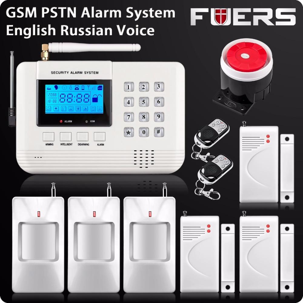 Wireless LCD GSM PSTN Alarm 433Mhz House Home Burglar Security 850 900 1800 1900 Mhz Wireless