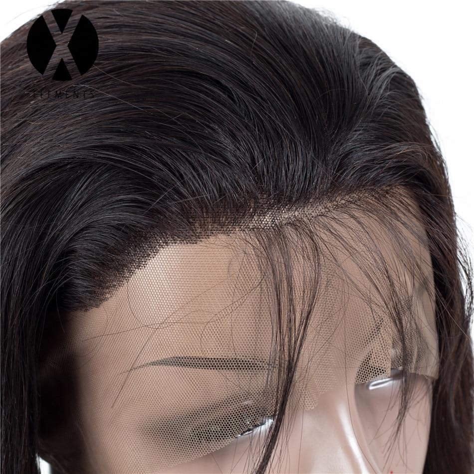 X-Elements 360 Lace Closure Human Hair Peruvian Straight Closure With - Mänskligt hår (svart) - Foto 3