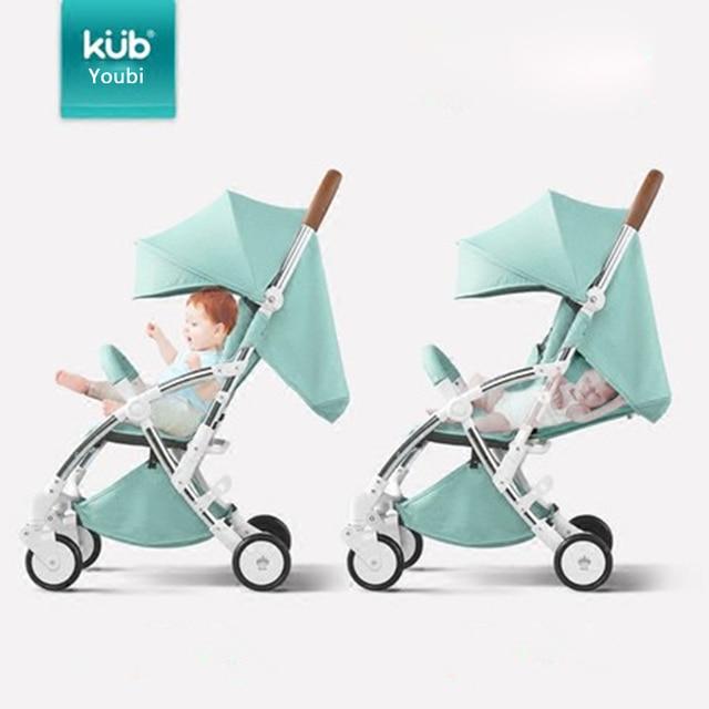 KUB Stroller Baby Stroller Lightweight Folding Seated Reclining Child Four-wheel Suspension Umbrella Car 1