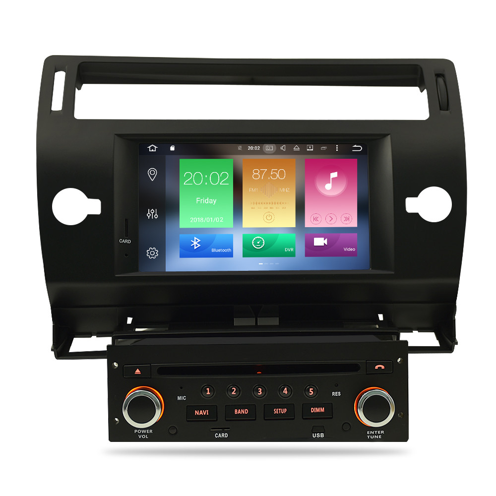Image 2 - Android 9.0 Touch Screen Car GPS DVD Stereo For Citroen C4 C Triomphe C Quatre 2004 2009 Video Radio WIFI FM Multimedia Player-in Car Multimedia Player from Automobiles & Motorcycles