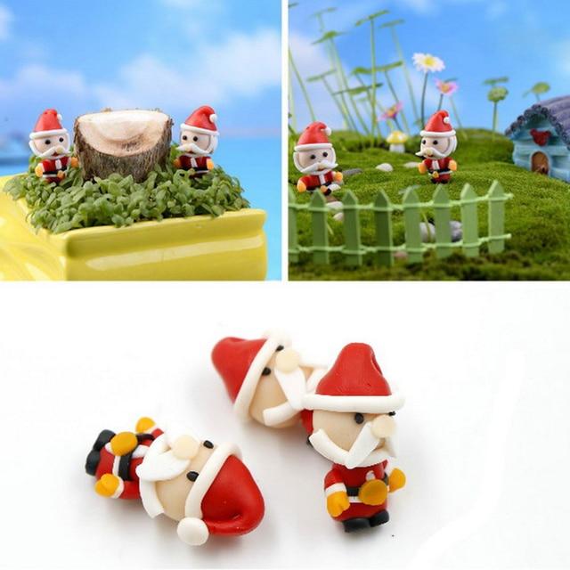 3pcs 32 Cm Hug Santa Claus Christmas Decoration Miniature Figurine Fairy Garden Ornament Statue