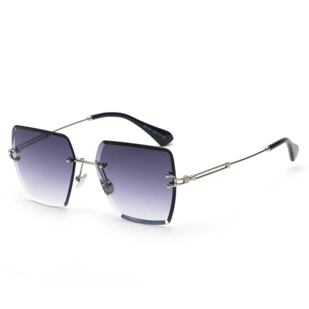 fa3aa008a3b ... Peekaboo rimless square sunglasses women 2018 metal high quality  designer multicolor sun glasses for women gift ...