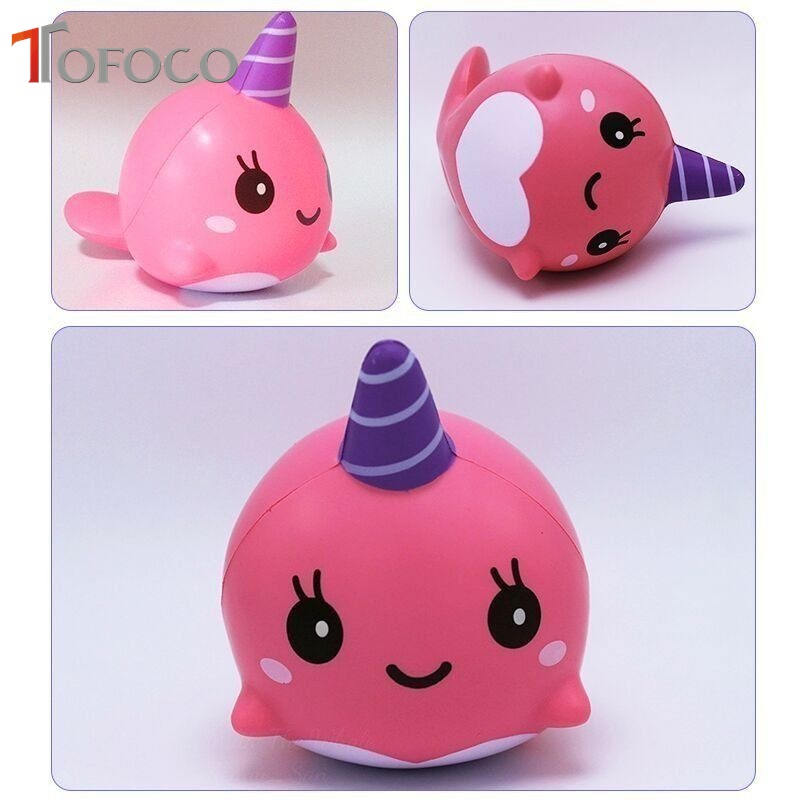 TOFOCO Kawaii 4cm Slow Rising Squishy Unicorn Squish Toys Squishies Anti Stress Funny Gadgets Squeeze Toy For Kids Prank funny gadgets football squishy slow rising cream scented decompression kid toys anti stress ball kawaii squishies joke toys gift