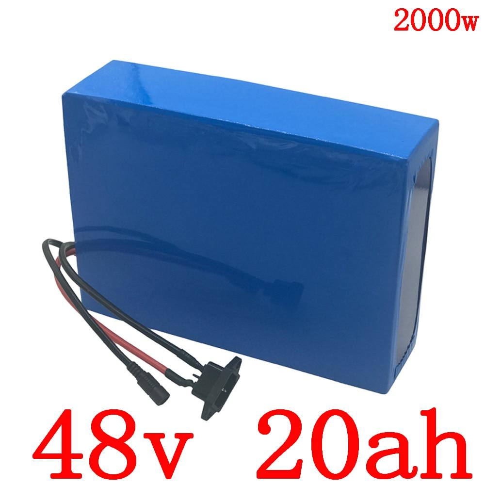 Libre de aduana 48V batería 48V 20AH batería de bicicleta eléctrica 48v 20ah batería de litio para 48V 1000W 1500W 2000W ebike motor