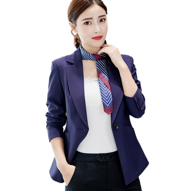 Plus Size Women Blazers And Jackets Spring Autumn 2018 Fashion Slim Thin Single Button Office Work Ladies Black Female Blazer