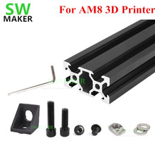 1 set AM8 3D Printer Aluminum Metal Extrusion Profile Frame with Nuts Screw Bracket Corner for Anet A8 3D printer parts
