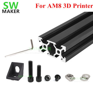 Image 1 - 1 set AM8 3D Printer Aluminum Metal Extrusion Profile Frame with Nuts Screw Bracket Corner for Anet A8 3D printer parts