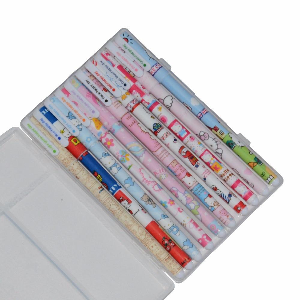 Korean Pen Lapiz Gel Lapices Cute Articulos De Escritorio Kawaii Cute Color Penne Colorate Hello Kitty Boligrafos De Colores