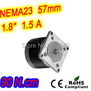 цена на Round shape 10 pieces per lot step motor23HR30-1506S L 76 mm Nema 23 with 1.8 deg 1.5 A 90 N.cm and unipolar 6 lead wires
