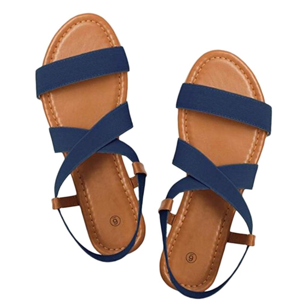 HTB14ZVfaEzrK1RjSspmq6AOdFXao 2019 Women's Sandals Spring Summer Ladies Shoes Low Heel Anti Skidding Beach Shoes Peep-toe Fashion Casual Walking sandalias