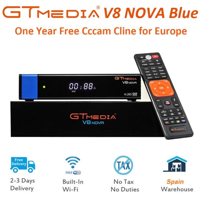 GT Media V8 Nova DVB-S2 Freesat Satellite Receiver H.265 Built-in WIFI+1Year Europe Spain Poland Cline New Version of V8 Super