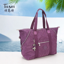Kipled TEGAOTE Original de Moda Nylon Impermeável Bolsa Multifuncional Grande Capacidade de Saco de Ombro Das Mulheres Tote Bag Bolsos 1309(China (Mainland))