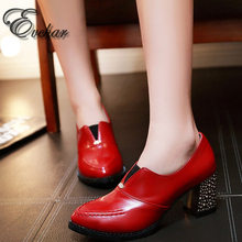 New Fashion Basice High heels square heel shoes pointed toe elastic band pumps mature women shoes big size 31-48