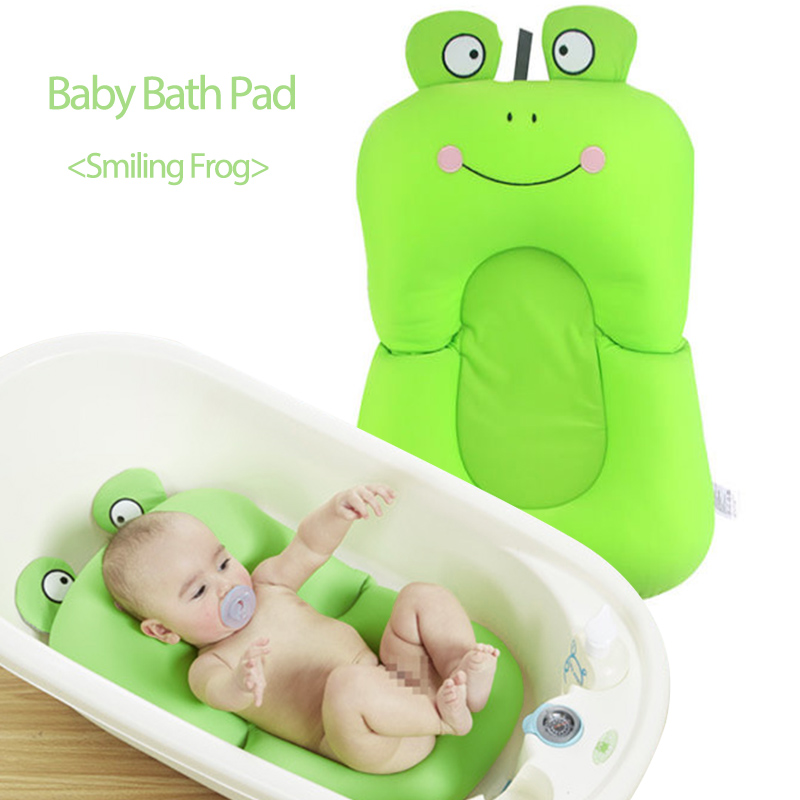 Smiling Frog Design Baby Shower Soft Bathtub Pad Newborn 0 6 M ...