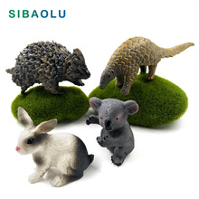 Simulation Koala Pangolin Rabbit Hedgehog Animal model figurine home decor miniature fairy garden decoration accessories modern