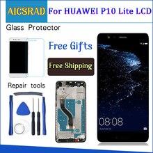 """HUAWEI P10 Lite ekran dokunmatik ekran digitizer için Huawei P10 Lite LCD ekran çerçeve ile P10lite ekran yeni 5.2"""" IPS"""