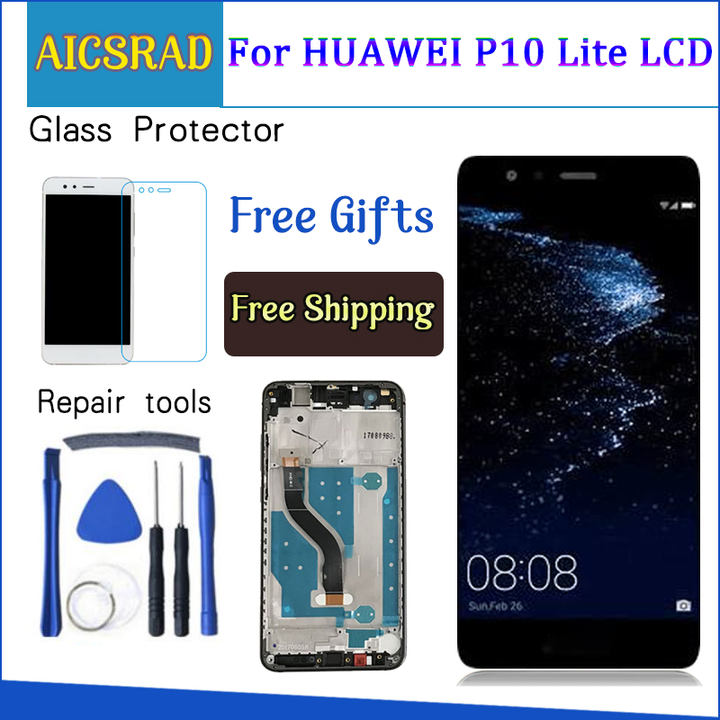 LCD For HUAWEI P10 Lite Display Touch Screen Digitizer For Huawei P10 Lite LCD Screen with Frame P10lite Display NEW 5.2 IPS LCD For HUAWEI P10 Lite Display Touch Screen Digitizer For Huawei P10 Lite LCD Screen with Frame P10lite Display NEW 5.2 IPS