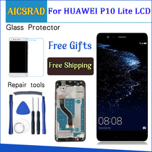 "LCD For HUAWEI P10 Lite Display Touch Screen Digitizer For Huawei P10 Lite LCD Screen with Frame P10lite Display NEW 5.2"" IPS"