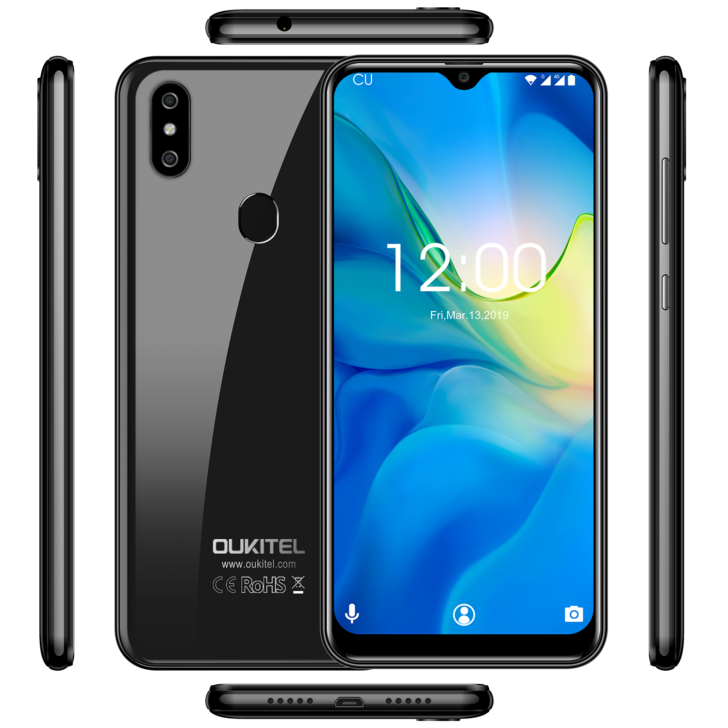 Image 5 - OUKITEL C15 Pro+ 6.088 4G Smartphone 3GB 32GB MT6761 Water Drop Screen 2.4G/5G WiFi Mobile Phone C15 Pro + Fingerprint Face ID-in Cellphones from Cellphones & Telecommunications