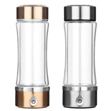 цена 420ml SPE/PEM Rich Hydrogen Water Generator Cup Electrolysis ORP H2 Anti-aging Anti-fatigue Water Ionizer Bottle