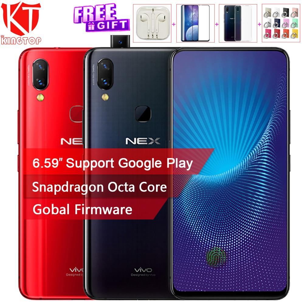 """2018 Новый VIVO NEX мобильный телефон 6/8 ГБ Оперативная память 128/256 ГБ Встроенная память Snapdragon 710 845 Octa core Android 8,1 6,59 """"полный Экран 4 г смартфон"""
