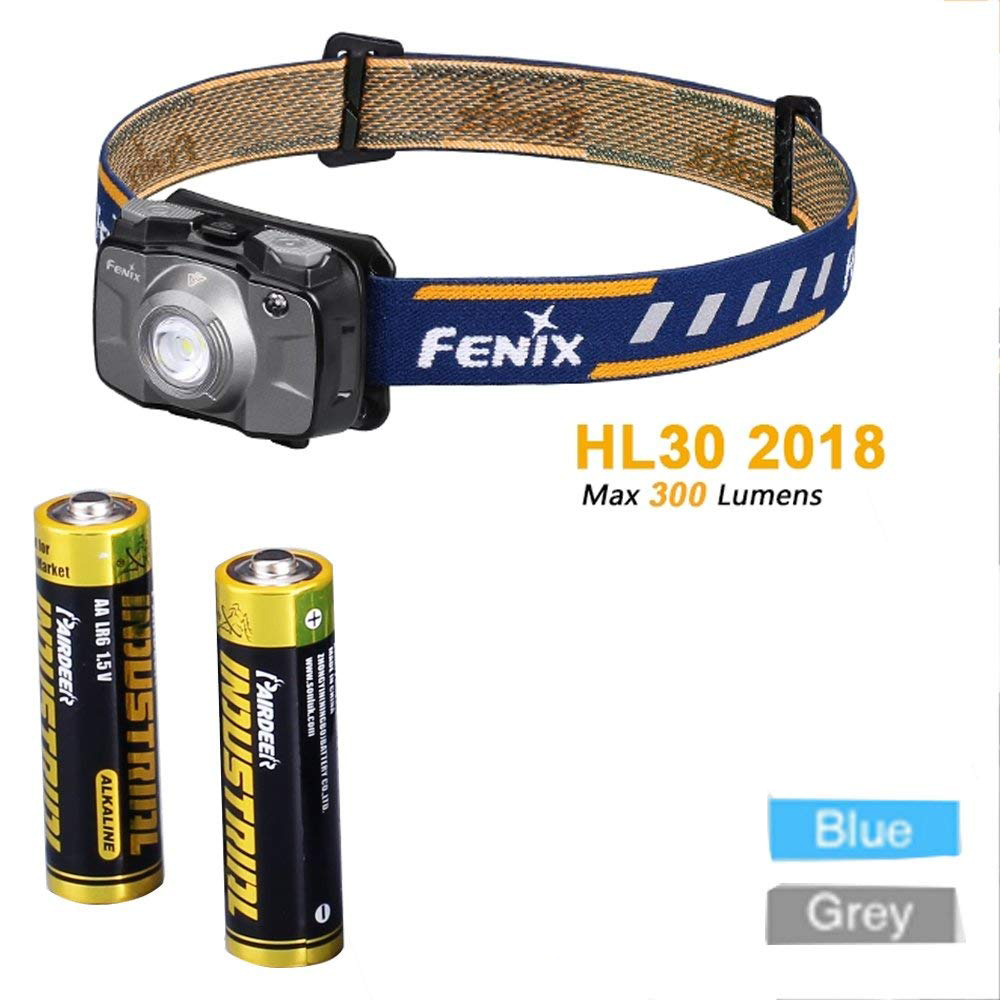 Fenix HL30 2018 Cree XP-G3 White LED & Nichia Red LEDs High-performance Outdoor Hiking Headlamp with AA Batteries фонарь fenix hl30 2018 blue
