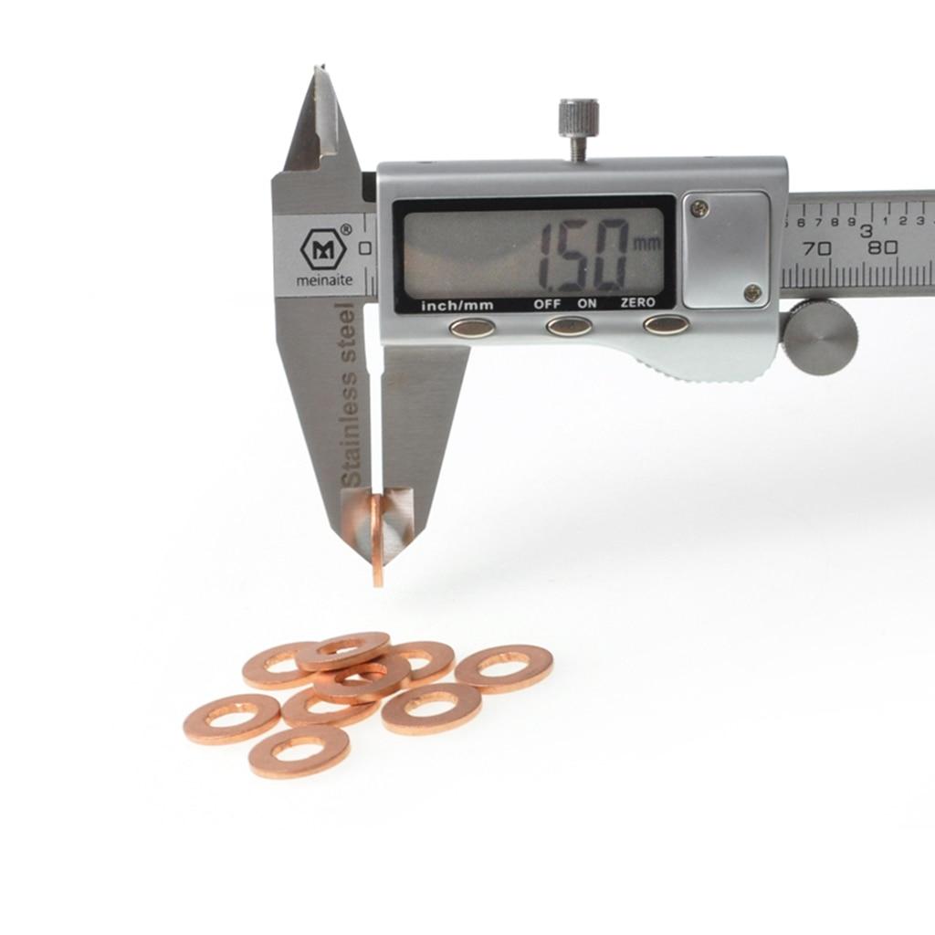10 шт. держатель топливного форсунки прокладка шайбы заменяет для автомобиля медный топливный инжектор шайбы