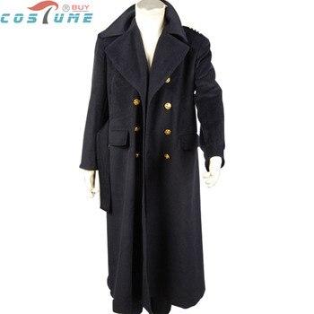 Who is Doctor Dr. Dark Blue Black Wool Trench Coat Jacket TV Winter Halloween Cosplay Costume Custom Made