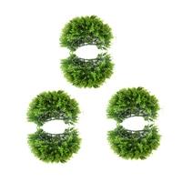 3 Set Green Artificial Topiary Ball Vivid Fake Plants Ball for Garden Holiday Wedding Party Decor Shop Cafe Display