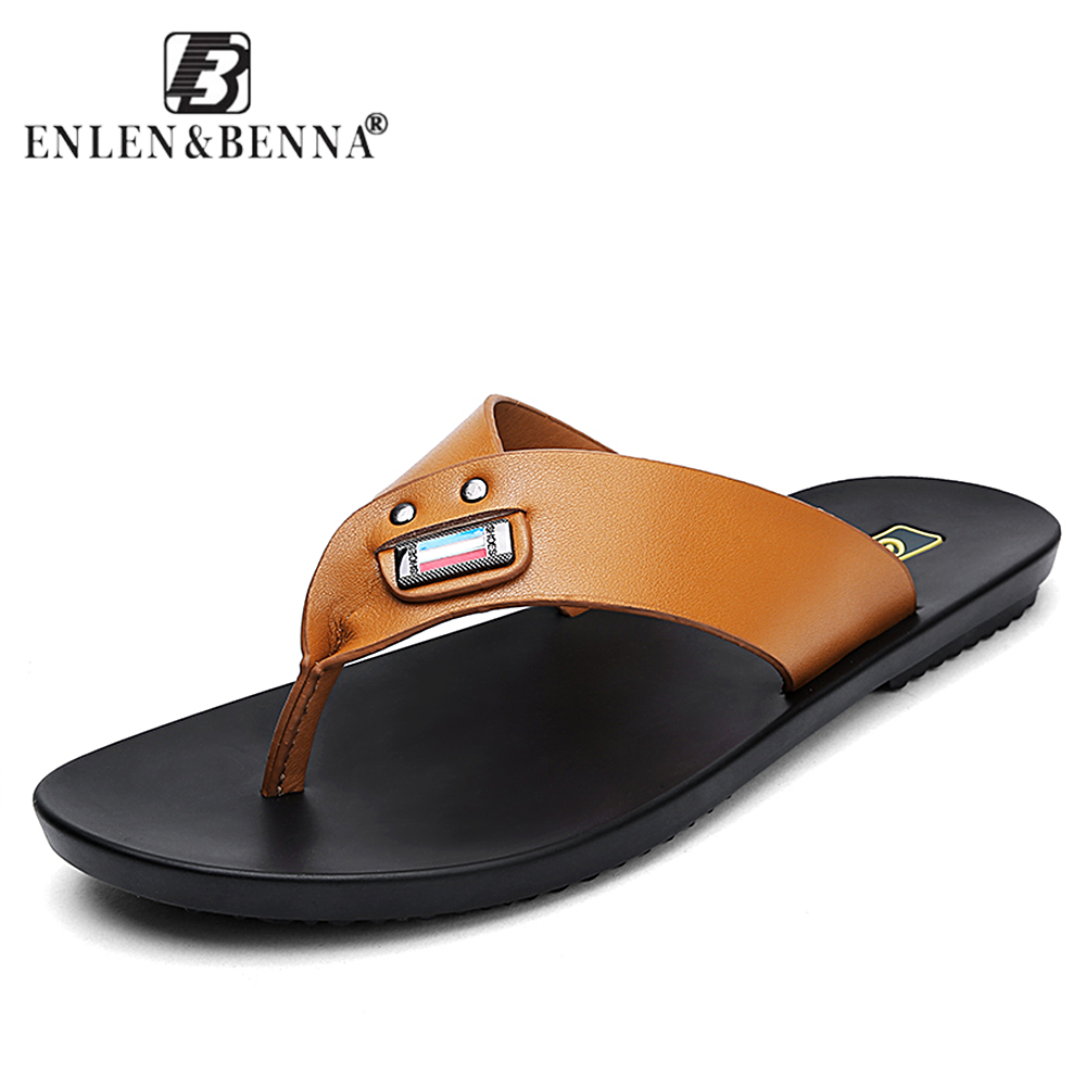 Summer Casual men's Flip Flops Flat Sandals Shoes For men Flip Flops Beach Sandals Shoes Man Outside Shoes цена