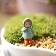 Big Sale 1PCS Cute Mini Figurines Miniature Girl Mei Resin Crafts Ornament Fairy Garden Gnomes Moss Terrariums Home Decorations(China)