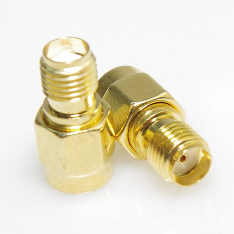 2 Pcs RF Coaxial Coax Adapter SMA Female to RP-SMA Male Connectors Dis: 6.2 x 3.4 x 0.4 inches --M25 9001 1033 002 rf connectors coaxial connectors sma m str n mr li