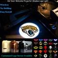 2x Car Porta Bem-vindo Wireless Senor Jacksonville Jaguars Logotipo Projetor Laser Projector Santo Sombra LED Puddle Luz (NFL25)