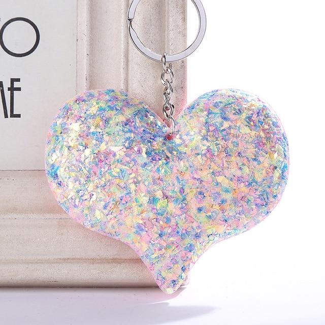 Reflective Sequins Flamingo Key Chain Hanging Keyring Pendant Bag Accessories