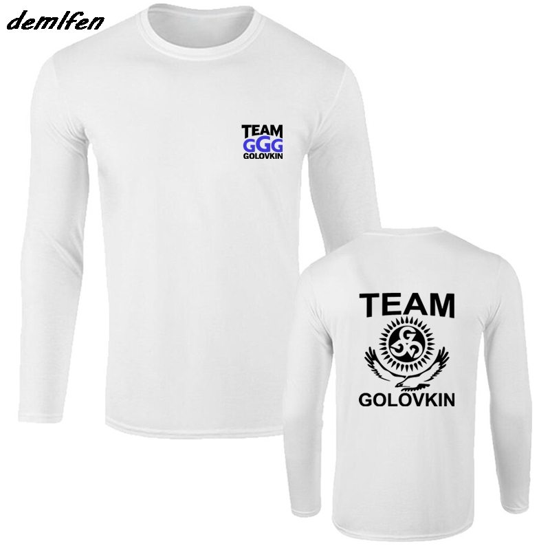 ed8d480782b GGG Gennady Golovkin Team Boxinger T-shirt Cool Casual Long Sleeve Cotton T  Shirt Fashion