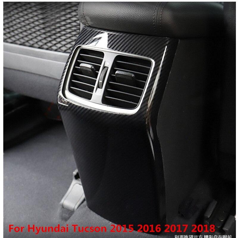 Haute qualité ABS Boîte D'accoudoir Arrière Planche Coussinets de protection Pour Hyundai Tucson 2015 2016 2017 2018, Voiture-Style (conduite à gauche)