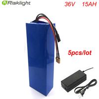 5pcs Lot Supercapacitor 36v 15ah Li Ion Battery Packs Waterproof Lithium Battery Pack With Electric Bike